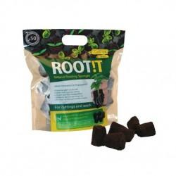 ROOT!T Natural Rooting Sponges 50 ks, sadbovací médium
