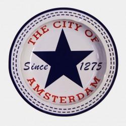 Kovový popelník- Blue star City of Amsterdam