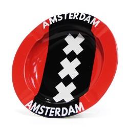 Kovový popelník- Amsterdamská vlajka XXX