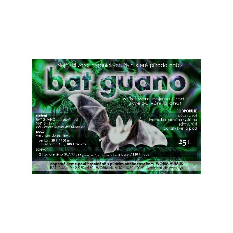 Bat Guano 25 l