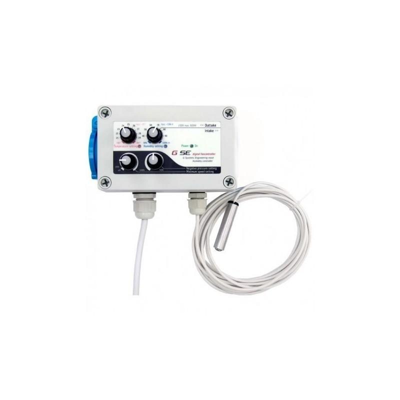 GSE digitální regulátor teploty a min.rychlosti ventilátoru a hysteréze