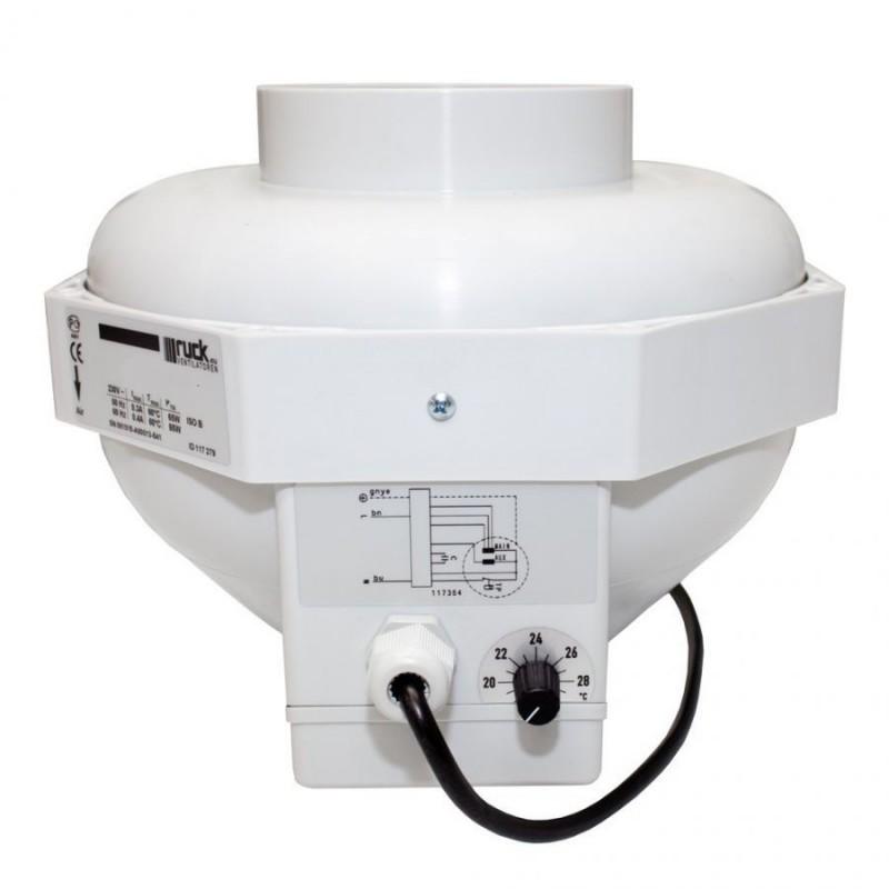 Ventilátor RUCK/CAN-Fan RKW 125L (350 m3/h) s termostatem