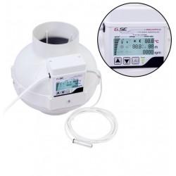 GSE EC Ventilátor 125/950m3/h s digitálním regulátorem teploty a vlhkosti