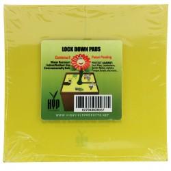 Lock down pads - desky lepové žluté, hranaté, 15cm 8ks/bal.