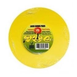 Lock down pads - desky lepové žluté, kulaté, 15cm 8ks/bal.