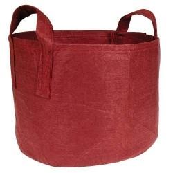 Root pouch textilní květináč Boxer brown 12l, nedegradující, 25x21cm s uchem