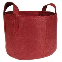 Root pouch textilní květináč Boxer brown 56l, nedegradující, 43x38cm s uchem