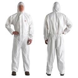 Bílý ochranný oblek 3M - L