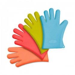 Silikonové rukavice na extrakt, modré